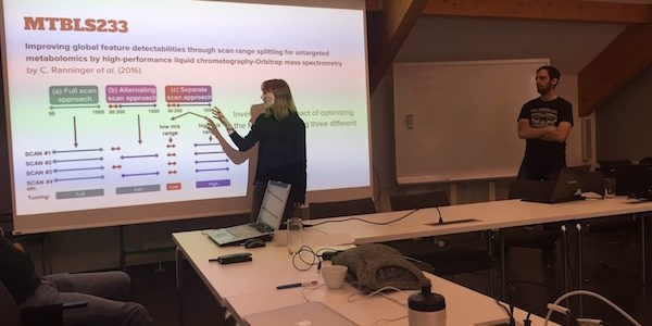 presenting on PhenoMeNal workshop in Halle, Germany